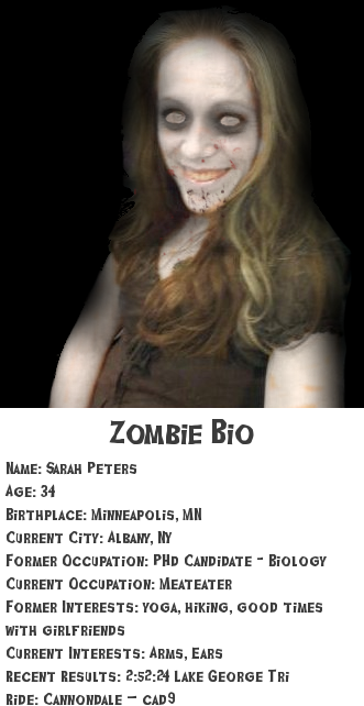 The zombie formerly known as Sarah